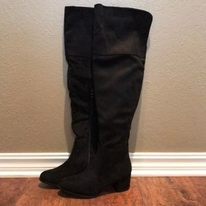 Over The Knee Black Boots | NWB
